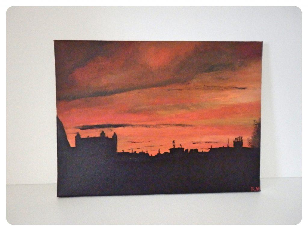 Západ slnka nad Bratislavou ~ Sunset over Bratislava town